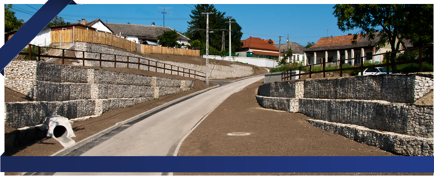 Sycons Kft. - Road construction and gabion retaining walls