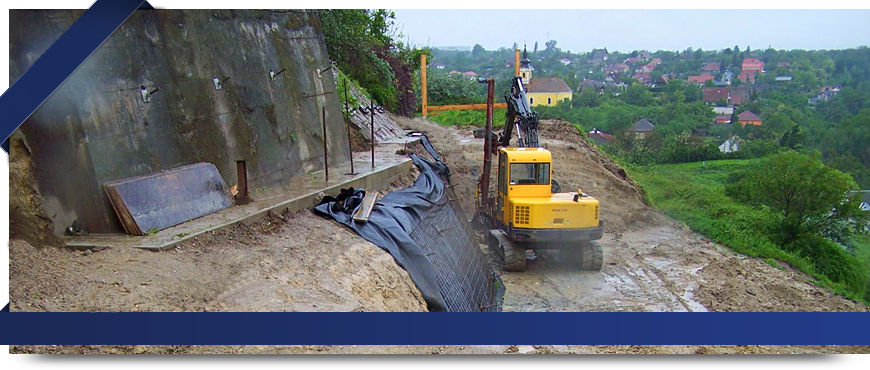 Sycons Kft. - Embankment stabilization
