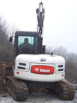 Sycons Kft. - KMOP subsidy - BOBCAT 442 type excavator with rubber tracks