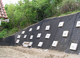 Sycons Kft. - Reinforcement of embankments by constructing reinforced soil retaining walls - Image 1