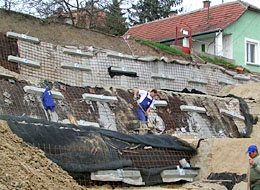 Sycons Kft. - Reinforcement of embankments by constructing reinforced soil retaining walls - Image 3